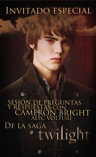 Cameron Bright (Alec Voltury en Twilight New Moon), estará en el Horror Fest 2010 de Monterrey