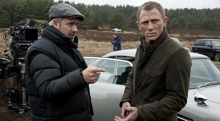 Sam Mendes y Daniel Craig rodando la última película de James Bond