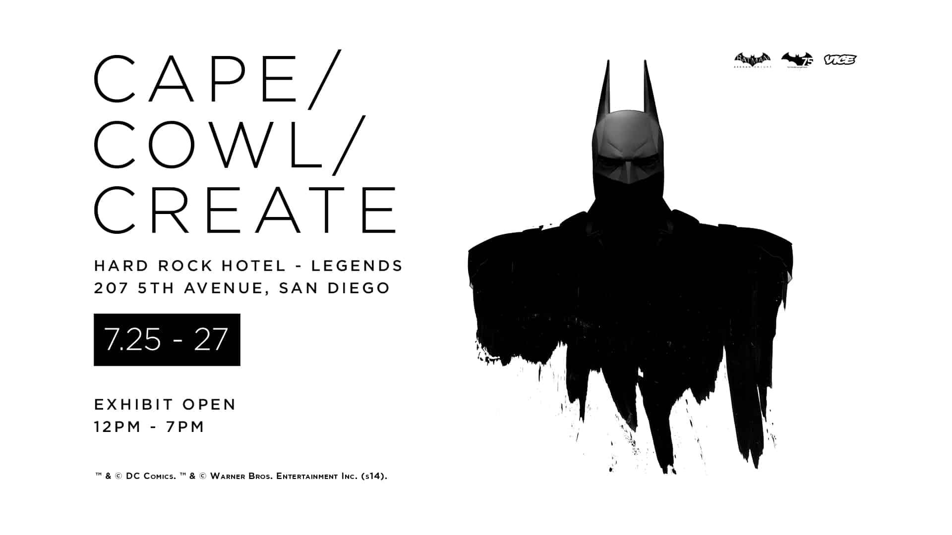 Cape / Cowl / Create Exhibition at San Diego Comic Con