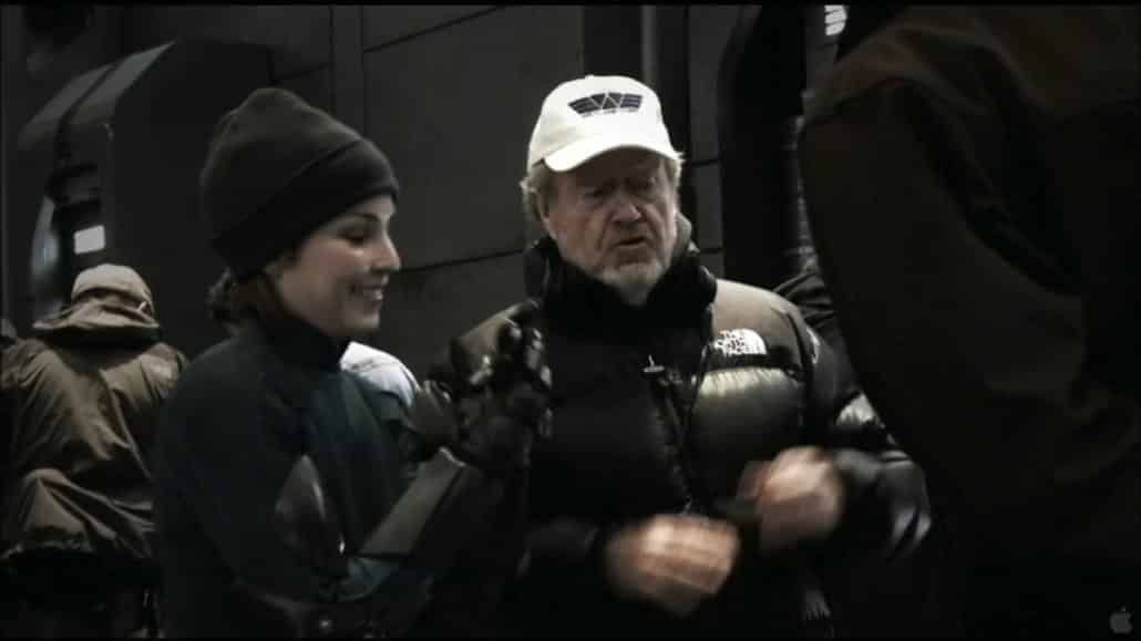 "Ridley Scott rodando ""Prometheus"""