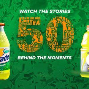 """""""50"""" el comercial de Gatorade para celebrar medio siglo"""