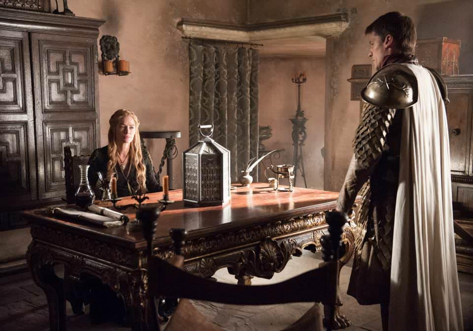 Lena Headey as Cersei Lannister and Nikolaj Coster-Waldau as Jaime Lannister – photo Helen Sloan/HBO