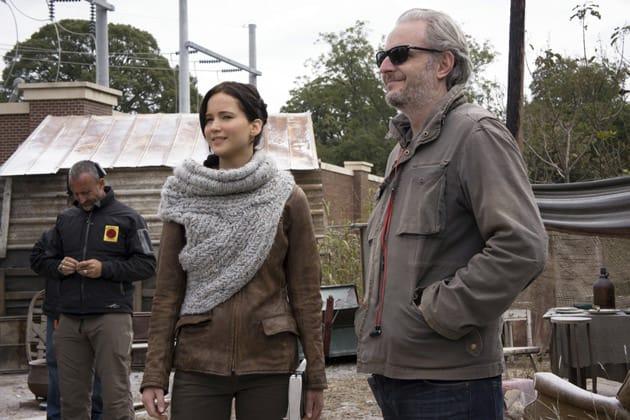 "Francis Lawrence, Jennifer Lawrence y James cameron en ""The dive"""
