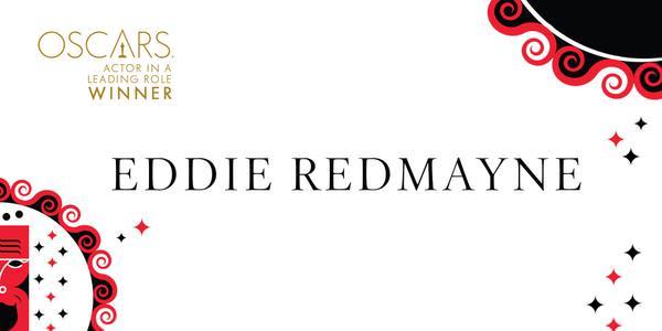 Imagen Promocional de los Premios Oscar para Mejor Actor para Eddie Redmayne por The Theory of Everything