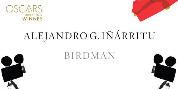 Imagen Promocional de los Premios Oscar a Mejor Director para Alejandro G. Iñárritu por Birdman.