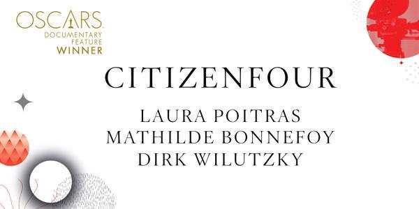 Imagen Promocional de los Premios Oscar a Mejor Documental para CitizenFour.