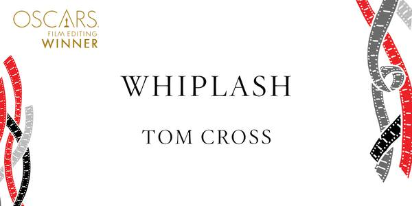 Imagen Promocional de los Premios Oscar a Mejor Edición para Whiplash.