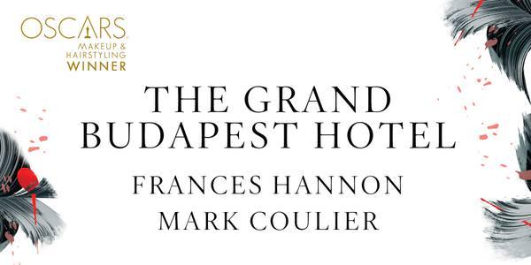 Imagen promocional de los Premios Oscar a Mejor Maquillaje para The Grand Budapest Hotel.