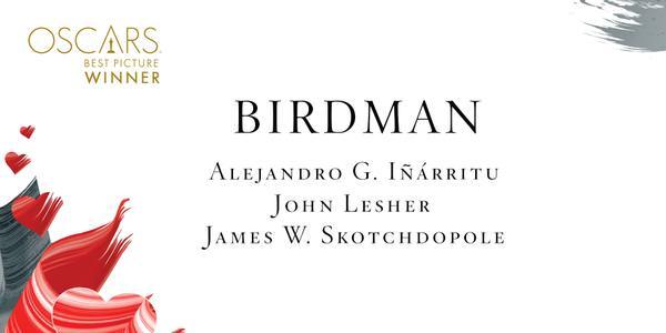 Imagen Promocional de los Premios Oscar por Mejor Cinta para Birdman.