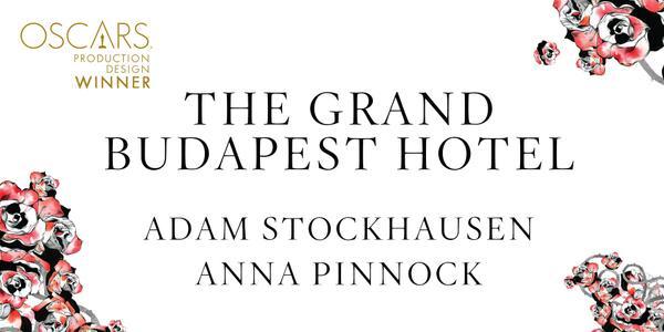 Imagen Promocional de los Premios Oscar a Mejor Diseño de Producción para The Grand Budapest Hotel.
