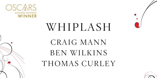 Imagen promocional de los Premios Oscar a Mezcla de Sonido para Whiplash