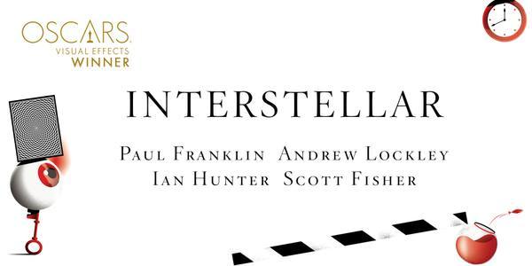 Imagen Promocional de los Premios Oscar a Mejores Efectos Especiales para Interstellar.