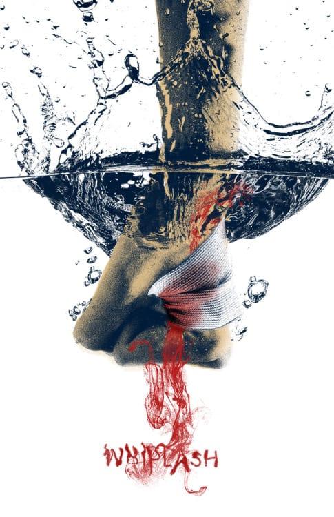 Poster de  recreado en Arte Pop para la entrega de Premios Oscar. Un grupo de artistas recreo postersde cintas nominadas al Premio Oscar en Arte Pop. Whiplash es dirigida por Damien Chazelle y estelarizada por Milles Teller, J.K. Simmons, Melissa Benoist y Paul Reiser.
