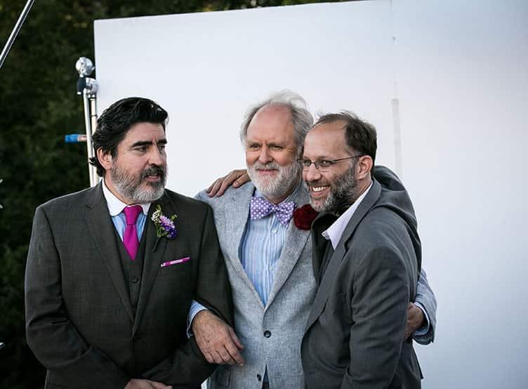 Alfred Molina, John Lithgow y el director de la cinta Ira Sachs. © 2014 - Sony Pictures Classics