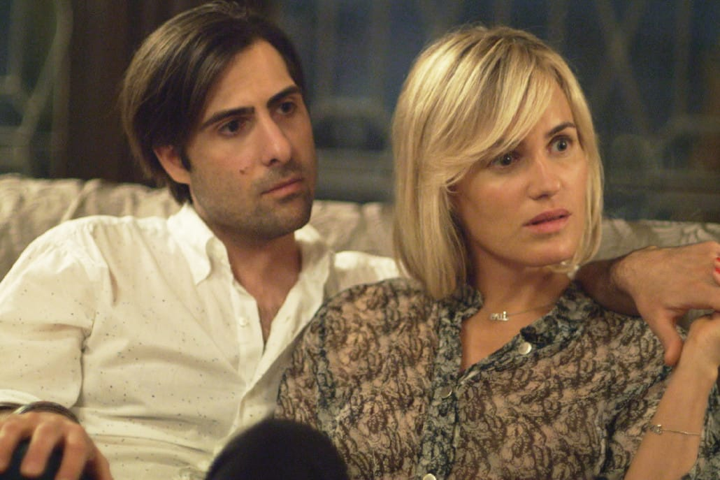 Jason Schwartzman y Judith Godréche en 'The Overnight'.