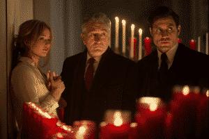 Jennifer Lawrence, Robert De Niro, y Édgar Ramírez en Joy