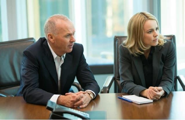 Michael Keaton y Rachel McAdams interpretan a parte del equipo de investigación que detalla los hechos reales del escándalo de abuso sexual de sacerdotes a niños en la cinta 'En Primera Plana' (Spotlight). © 2015 - Open Road Films