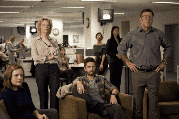 Elisabeth Moss, Cate Blanchett, Topher Grace y Dennis Quaid en 'Conspiración y Poder' (Truth). © 2015 - Sony Pictures Classics