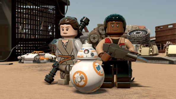 Rey, Finn y BB-8 en Lego Star Wars: The Force Awakens