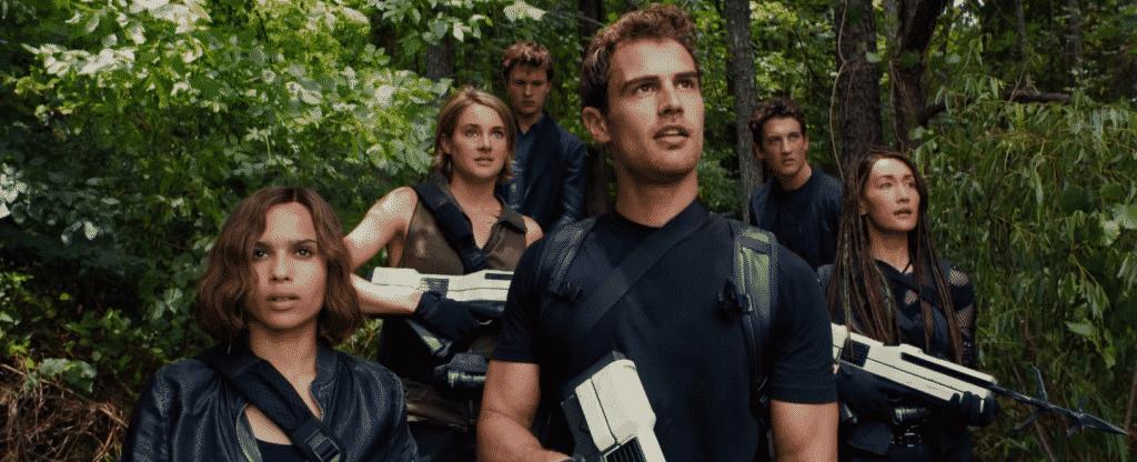 Zoe Kravitz, Shailene Woodley, Ansel Elgort, Theo James, Miles Teller, Maggie Q, en la tercera entrega de la saga Divergente, LEAL. Estreno en cines en México, 18 de marzo.