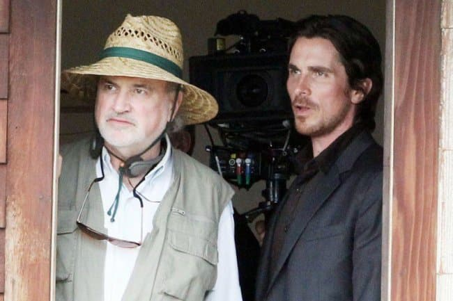El cineasta Terrence Malick y Christian Bale en 'Knight of Cups'. Photo by Broad Green Pictures - © © Broad Green Pictures