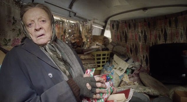 Maggie Smith protagonista de la cinta, 'The Lady in the Van'. © 2015 - Sony Pictures Classics.