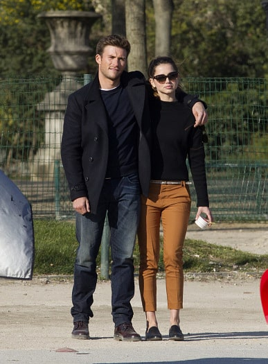 Scott Eastwood and Ana de Armas on Overdrive filmset in Paris
