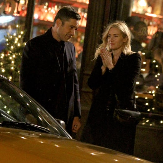 """Kate Winslet kisses Enrique Murciano after dinner at """"Collateral Beauty"""" set in NYC"""