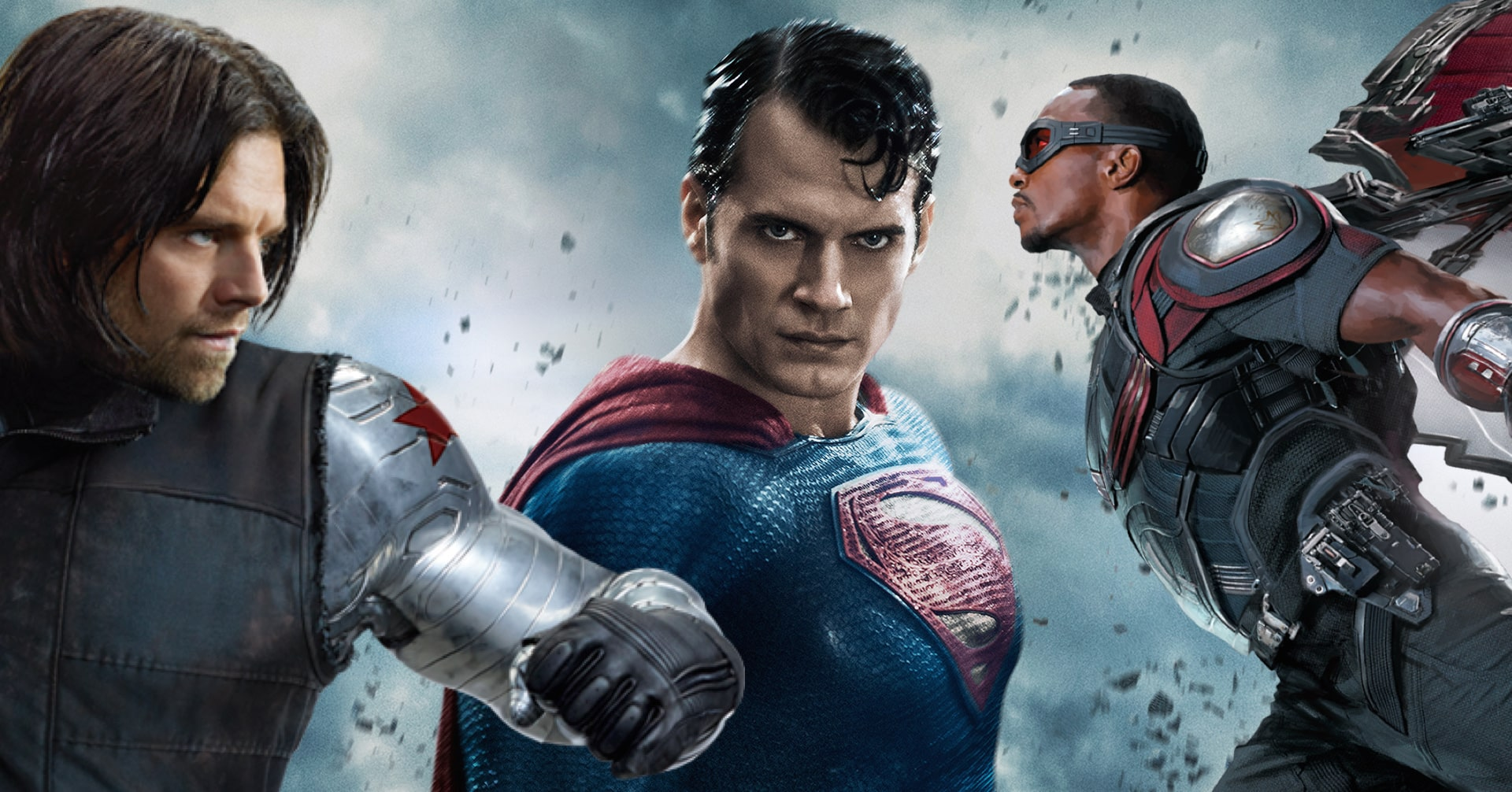 Anthony Mackie Sebastian Stan Batman v Superman