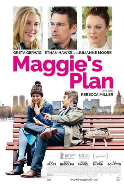 Póster oficial de la comedia romántica Maggie's Plan