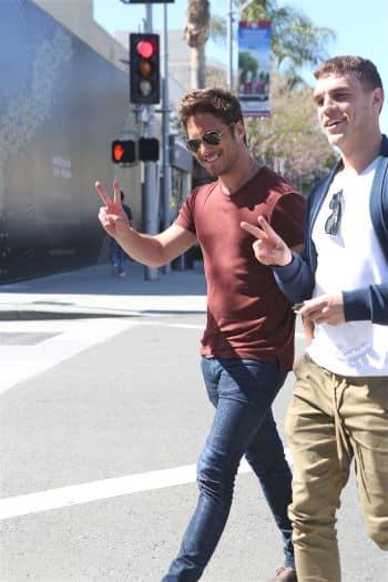 Diego Boneta leaves lunch in Beverly Hills.