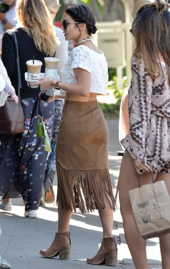 Vanessa Hudgens goes to Alfred Coffee in West Hollywood