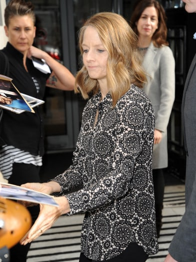 Jodie Foster out and about, London, Britain - 20 May 2016