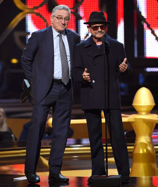 Robert De Niro y Joe Pesci en la ceremonia de introducción de 'Casino' en el Guy Hall of Fame.  GettyImages.