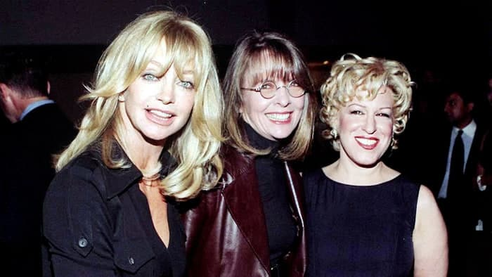 Goldie Hawn, Diane Keaton y Bette Midler en 1996, durante la promoción de su película 'The First Wives Club'