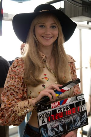 Jennifer Lawrence en el set de X-Men: Days of Future Past