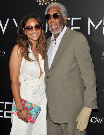 Morgan Freeman y su nieta. Foto de Broadimage/REX/Shutterstock.