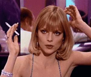 Elvira (Michelle Pfeiffer) está tan aburrida en esta película, como el resto del mundo