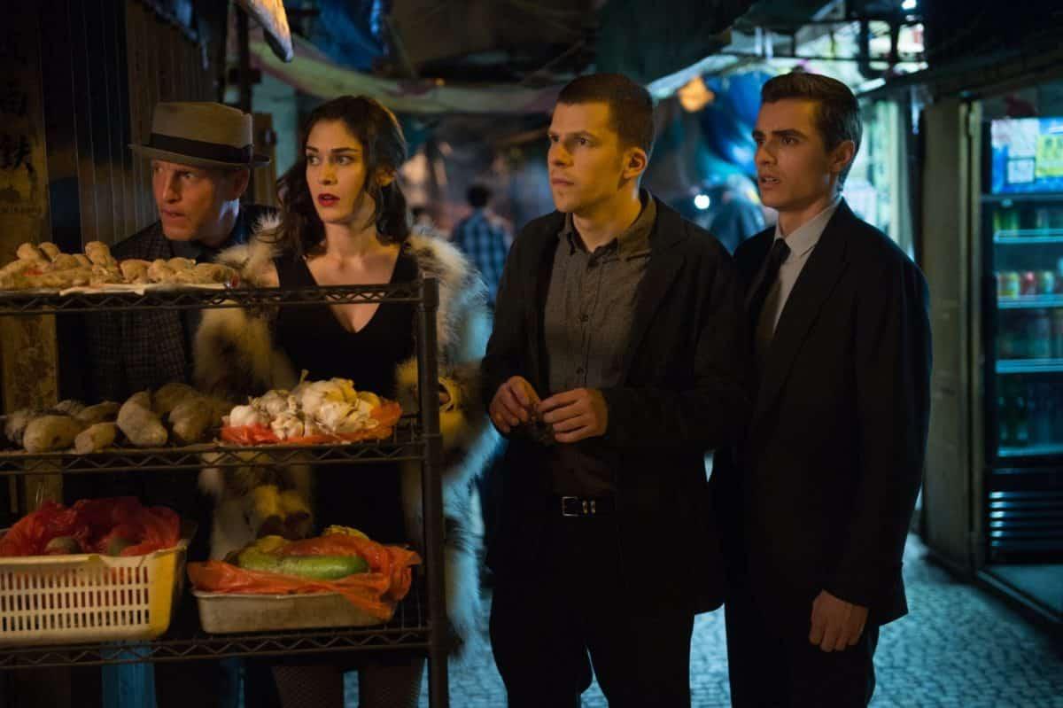 Woody Harrelson, Lizzy Caplan. Jesse Eisenberg y Dave Franco son los Cuatro Jinetes en Los Ilusionistas 2 (Now You See Me 2).