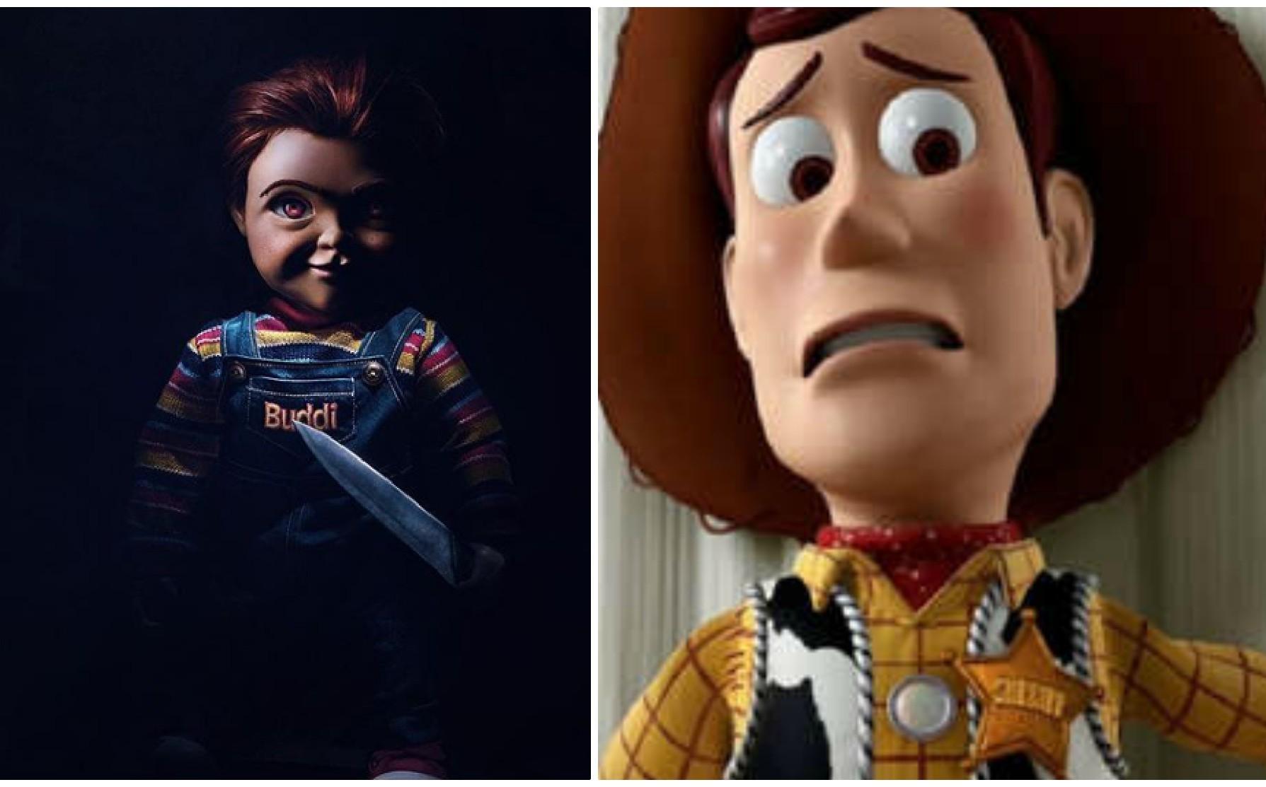 Chucky asesina a Woody de Toy Story en creativo póster
