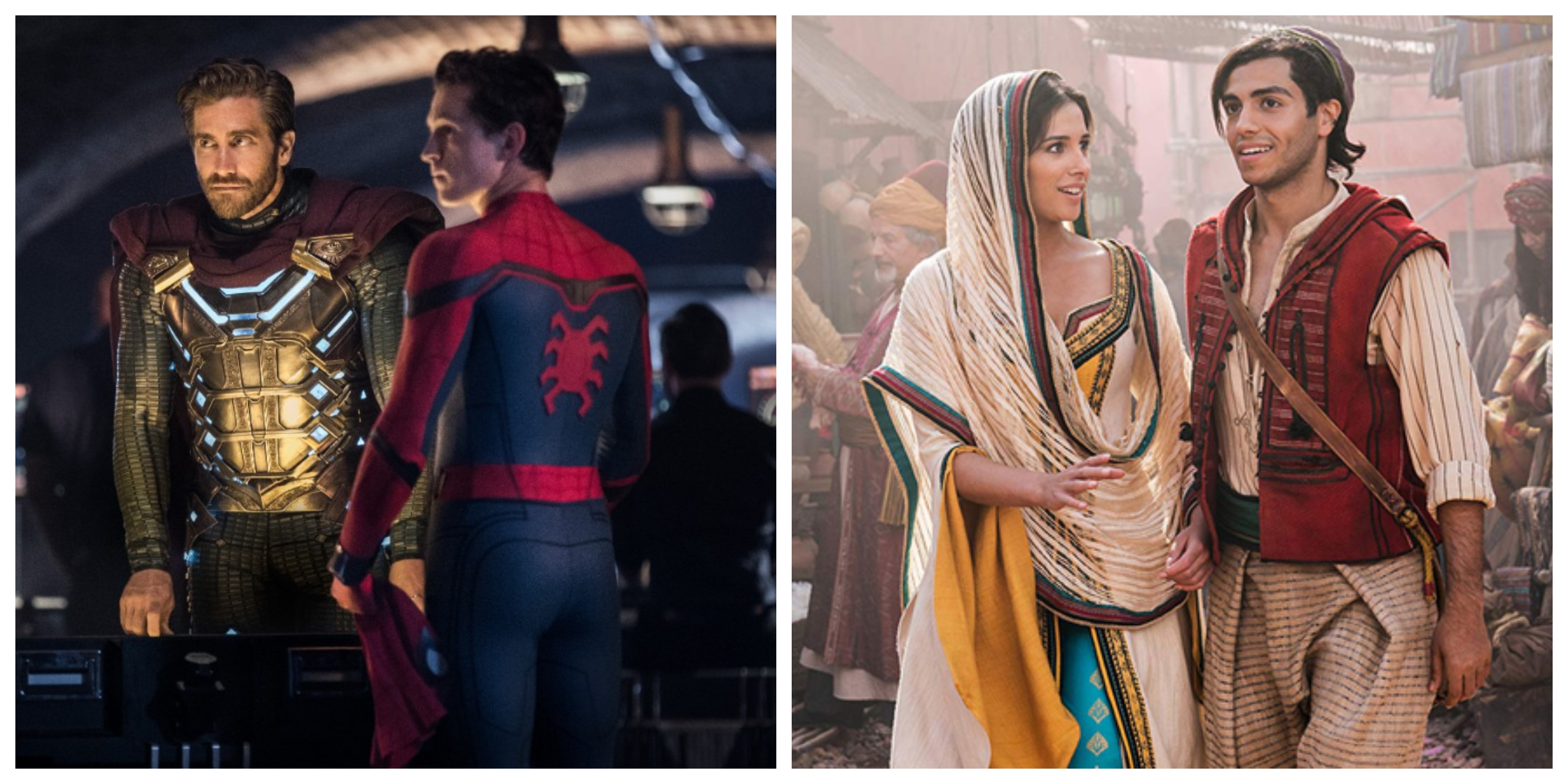 Aladdin y Spider-Man: Far From Home superan los mil millones en taquilla