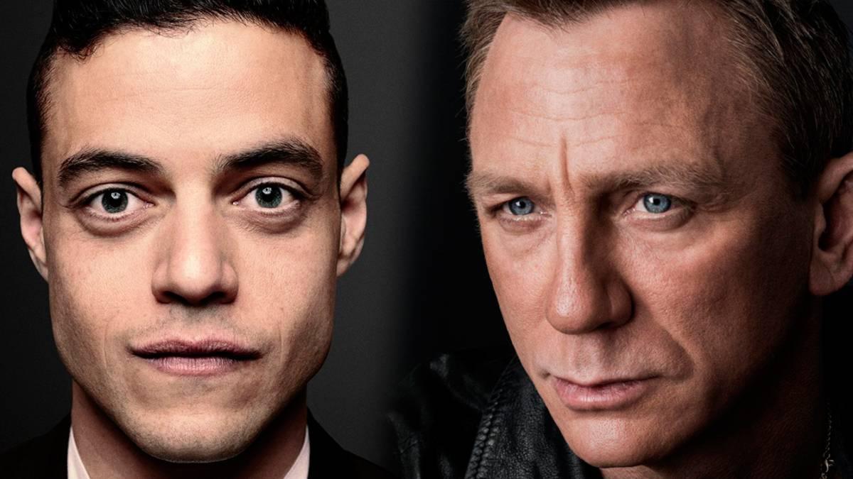 El beso de Daniel Craig y Rami Malek filmando Bond: No Time To Die