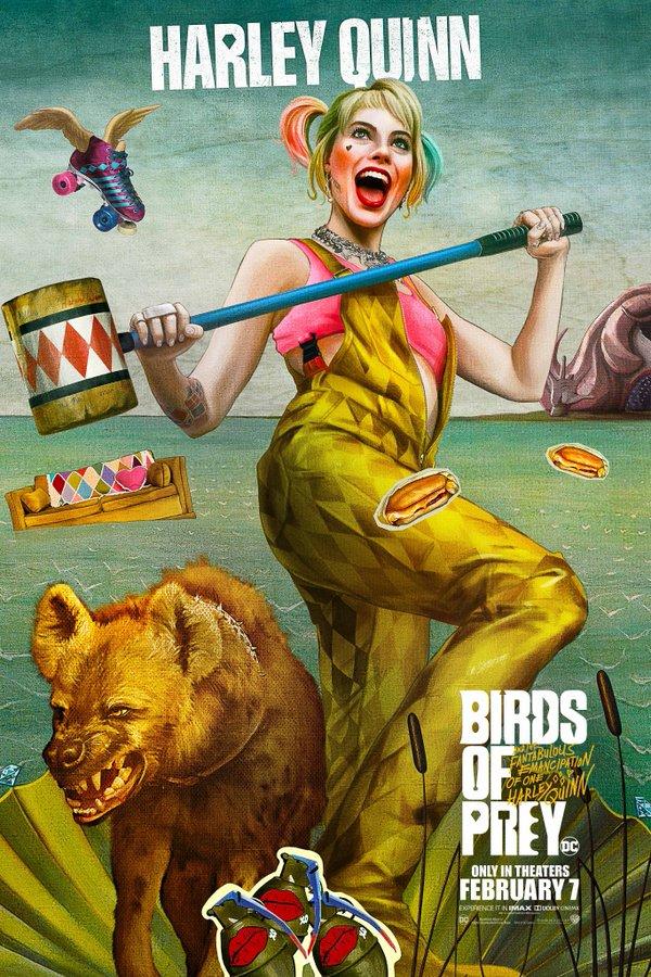 Birds of Prey presenta coloridos character posters en la CCXP