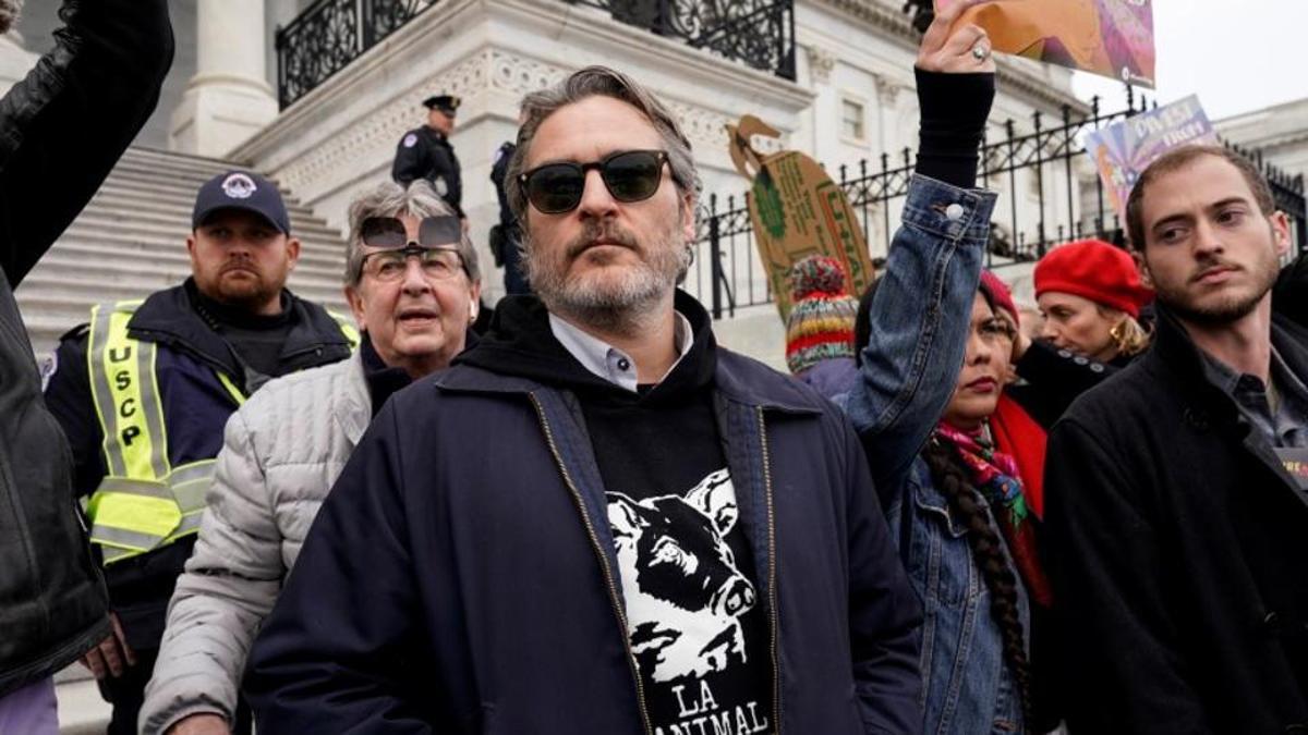 Joaquin Phoenix es arrestado en una protesta