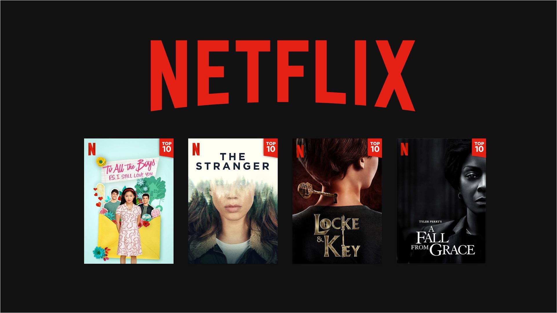 Netflix incorpora en plataforma Top 10 de títulos más populares