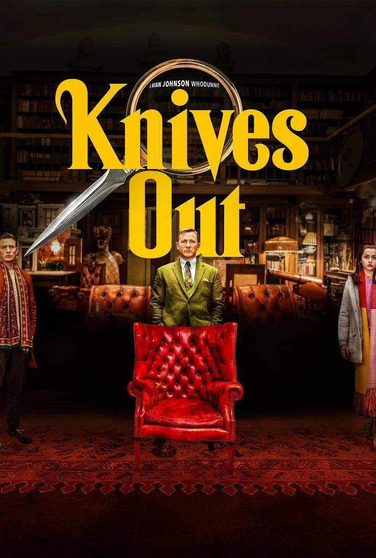 Knives Out practica el distanciamiento social en póster