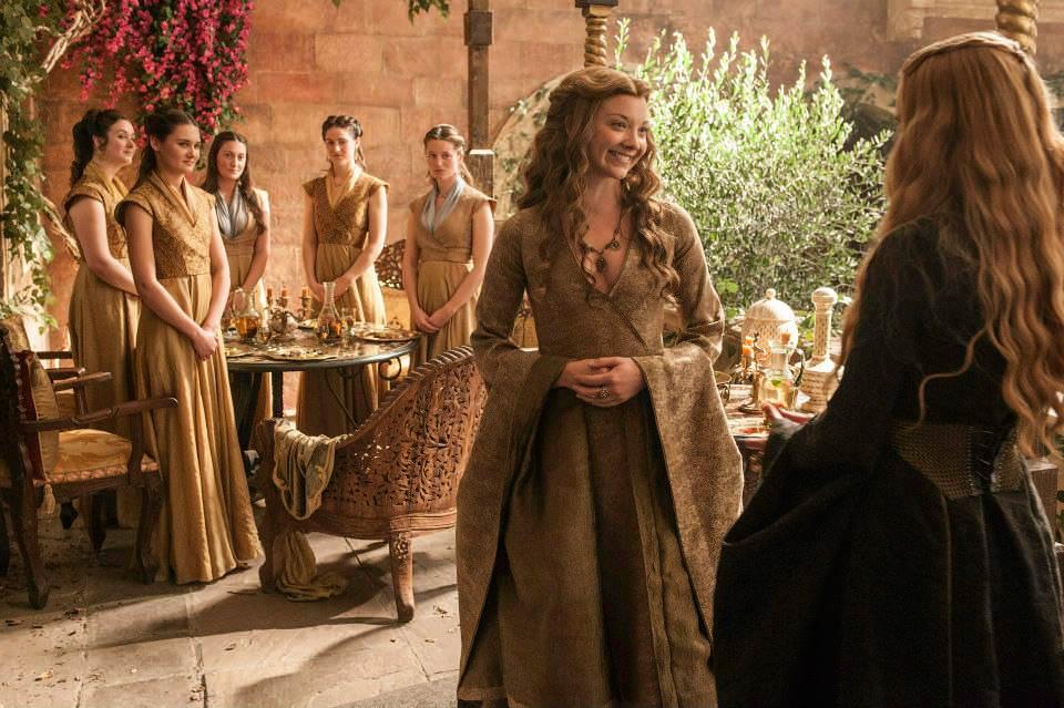 Natalie Dormer as Margaery Tyrell and Lena Headey as Cersei Lannister – photo Helen Sloan/HBO