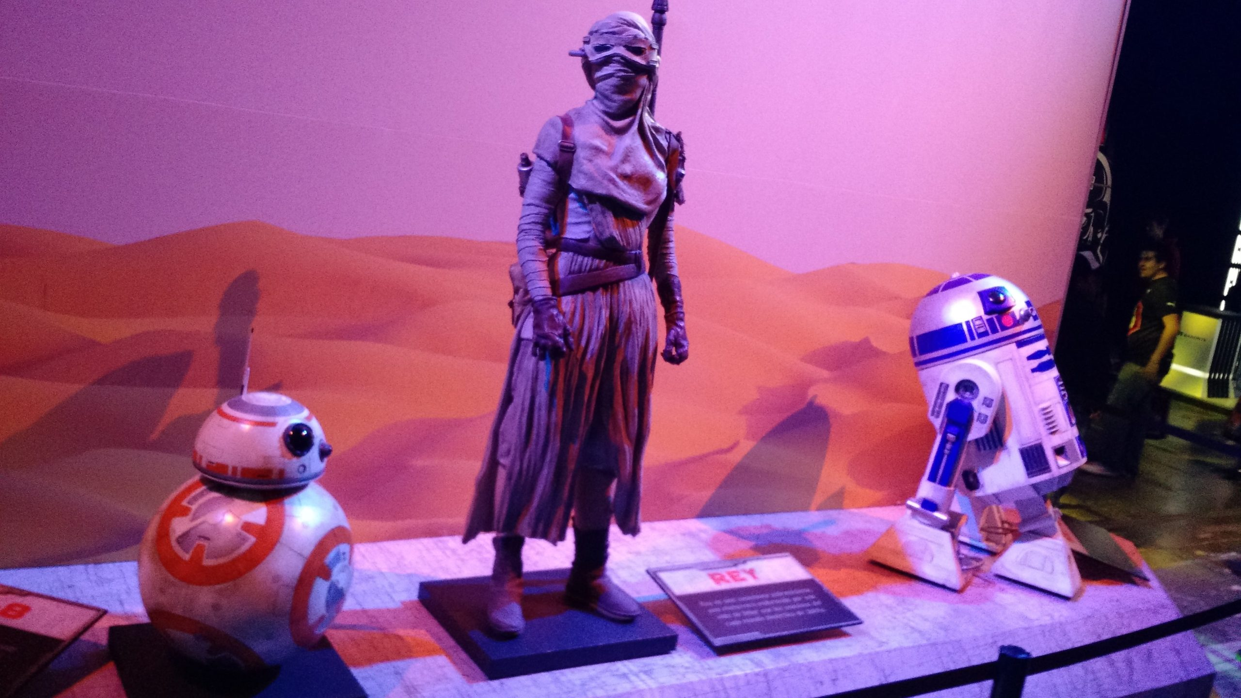 Rey, BB-8, R2-d2