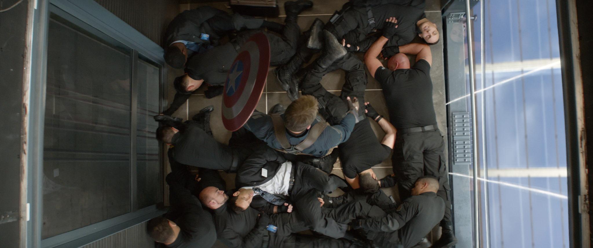 Cap elevator scene