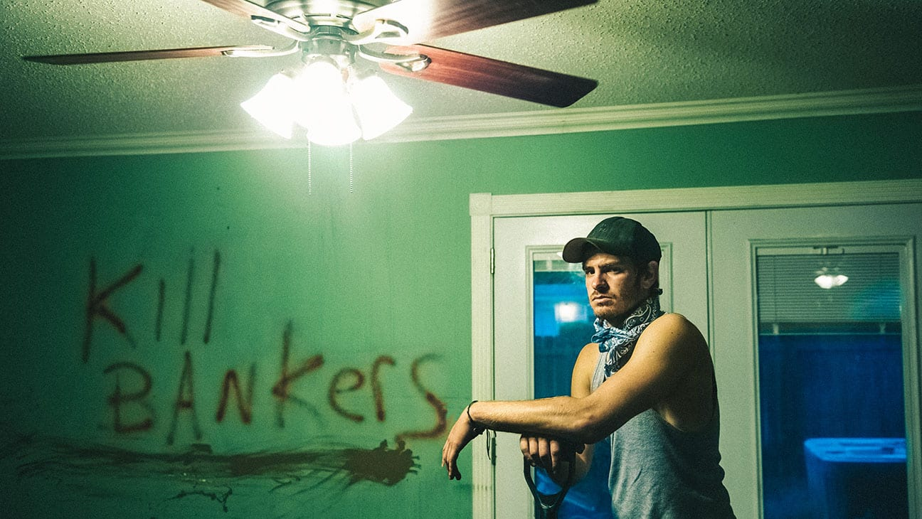 Andrew Garfield en imagen de la cinta '99 Homes'.  © Broad Green Pictures